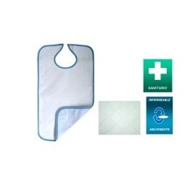Babero adulto reutilizable absorbente 4 capas