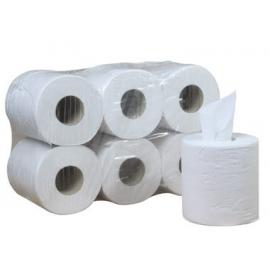 Rollo bobina papel secamanos | Lote 6 rollos | Precortado a 40 cm | 150 metros | Doble capa