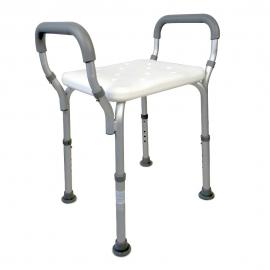 Silla para baño | Aluminio | PVC | Altura regulable | Reposabrazos | Acueducto | Mobiclinic