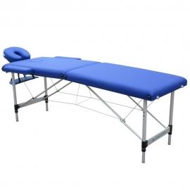 Camilla fisioterapia plegable | Reposacabezas | Portátil | Aluminio | 186x60 cm | Azul | CA-01 Light | Mobiclinic