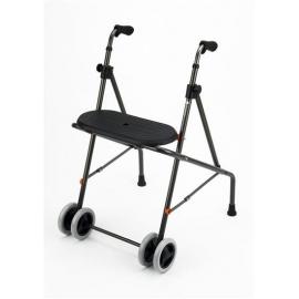 Andador caminador de aluminio con ruedas y asiento