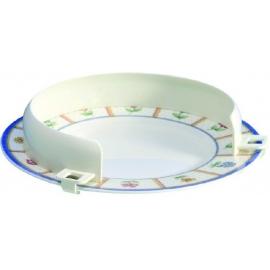 Reborde auxiliar para platos   Plástico   Blanco   Varias medidas   Mobiclinic