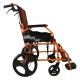 Silla de ruedas | Plegable | Aluminio | Freno en manetas | Reposapiés | Reposabrazos | Naranja | Pirámide | Mobiclinic - Foto 3