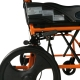 Silla de ruedas | Plegable | Aluminio | Freno en manetas | Reposapiés | Reposabrazos | Naranja | Pirámide | Mobiclinic - Foto 4
