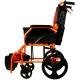 Silla de ruedas | Plegable | Aluminio | Freno en manetas | Reposapiés | Reposabrazos | Naranja | Pirámide | Mobiclinic - Foto 7