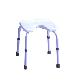 Taburete de baño con asiento en U | Regulable | Blanco | Samba