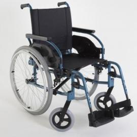 "Silla de ruedas acero Action1R 24""maciza color azul"