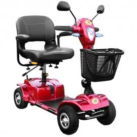 Scooter eléctrico para adultos | 4 ruedas macizas o neumáticas | Desmontable y compacta | Color rojo | Urban | Libercar