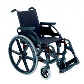 """Silla de ruedas Breezy Premium (antigua 250) plegable de acero en color rojo con rueda de 24"""""""