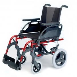 Silla de ruedas Breezy Style (antigua 300) de aluminio en color rojo con rueda pequeña de 12