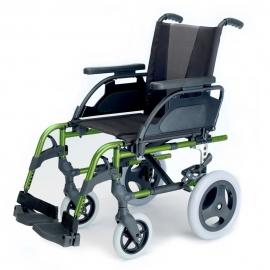 Silla de ruedas Breezy Style (antigua 300) de aluminio en color verde manzana con rueda pequeña de 12