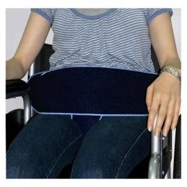 Cinturón de sujeción perineal para silla de ruedas   Cierre por presión