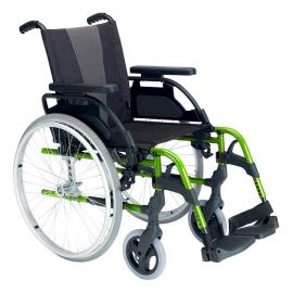 """Silla de ruedas Breezy Style (antigua 300) de aluminio en color verde manzana con rueda de 24"""""""