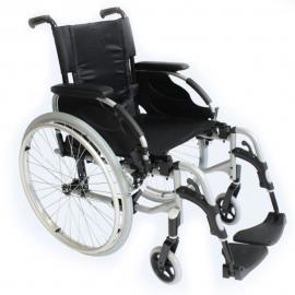 """Silla de ruedas de aluminio action 2 R.24"""" maciza"""