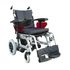 Silla de ruedas eléctrica | Emblema de Libercar | Motorizada y plegable