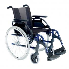 "Silla de ruedas Breezy Style (antigua 300) de aluminio en color azul con rueda de 24"""