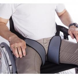 Arnés de piernas para sujeción a sillas de ruedas y de descanso
