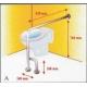 Barra de seguridad asidero para baño en L | acero inox. - Foto 1