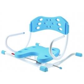 Silla giratoria para bañera | Con respaldo y reposabrazos | En forma de U | Varios colores