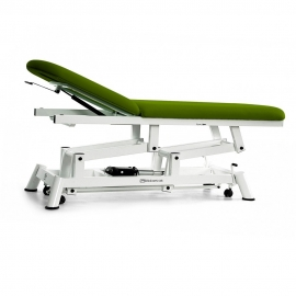 Camilla mesa de reconocimiento eléctrica con ruedas | 2 cuerpos