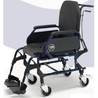 Silla de ruedas con inodoro | interior acero