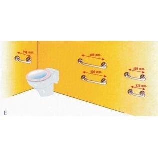 Barra recta asidero soporte seguridad a. inox