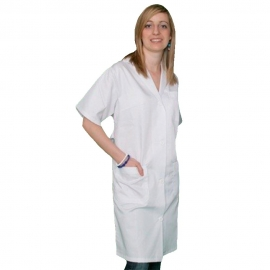 Bata sanitaria clásica mujer manga corta