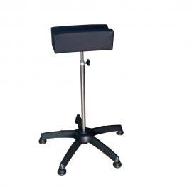 Soporte de piernas | Acero inoxidable | Regulable en altura | Rótula | Base ABS | Tapizado |Mobiclinic