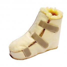Bota antiescaras Premium   Lambskin   Lana natural   Para pie izquierdo