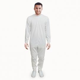 Pijama antipañal de sarga (verano), manga y pierna larga.
