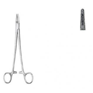 Porta agujas Mayo-Hegar con estrías finas 16cm