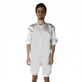 Pijama antipañal de sarga (verano), manga y pierna corta.