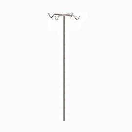 Porta sueros | Acero inoxidable | 4 ganchos | adaptable a cama | Varilla | Mobiclinic
