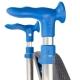 Andador con ruedas | Plegable | Aluminio | Asiento | Color azul | ARA-C | Forta - Foto 5