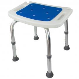 Taburete para baño | Acolchado | Regulable en altura | 41x29cm