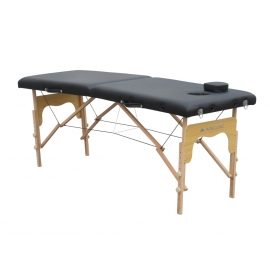 Camilla plegable | Madera | Portátil | 180x60 cm | Fisioterapia | Negra | CM-01 BASIC | Mobiclinic