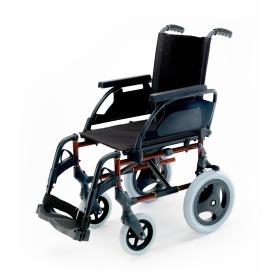 """Silla de ruedas Breezy Premium (antigua 250) de acero en color rojo con ruedas de 12"""""""