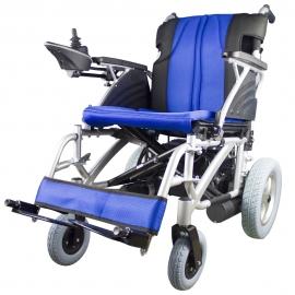 Silla de ruedas eléctrica | Plegable |Auton. 20 km | Aluminio | 24V | Azul y negra | Lyra | Mobiclinic