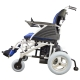 Silla de ruedas eléctrica | Plegable |Auton. 20 km | Aluminio | 24V | Azul y negra | Lyra | Mobiclinic - Foto 4