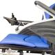 Silla de ruedas eléctrica | Plegable |Auton. 20 km | Aluminio | 24V | Azul y negra | Lyra | Mobiclinic - Foto 5