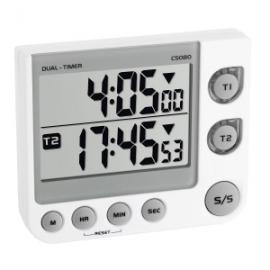 Cronómetro digital   2 canales   99 horas   91x21x76mm