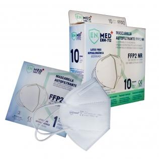 10 Mascarillas Adulto FFP2 | 0'49€ud | Fabricación Europea | Autofiltrantes | Marcado CE | Caja de 10 uds