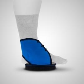 Botín para escayola plano | Con suela antideslizante y cordones| Azul | Varias tallas | PD01 | Emo