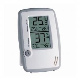 Termohigrómetro digital | Mide el grado de humedad | 134x91x18mm | Con memoria máxima y mínima