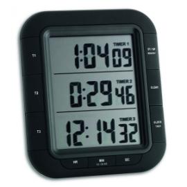 Cronómetro digital   3 tiempos   Función de memoria   103x121x20mm