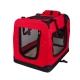 Transportín para mascotas | Talla M | Soporta 10 kg | 57x38x44 cm | Plegable | Rojo | Balú | Mobiclinic - Foto 2