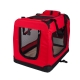 Transportín para mascotas   Talla M   Soporta 10 kg   60x42x44 cm   Plegable   Rojo   Balú   Mobiclinic - Foto 2