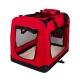 Transportín para mascotas | Talla L | Soporta 15 kg | 70x52x50 cm | Balú | Plegable | Rojo | Mobiclinic - Foto 1
