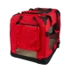Transportín para mascotas | Talla L | Soporta 15 kg | 70x52x50 cm | Balú | Plegable | Rojo | Mobiclinic - Foto 2