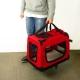 Transportín para mascotas | Talla L | Soporta 15 kg | 67x50x49 cm | Balú | Plegable | Rojo | Mobiclinic - Foto 6